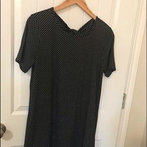 Cute Black and White Polka Dot Dress